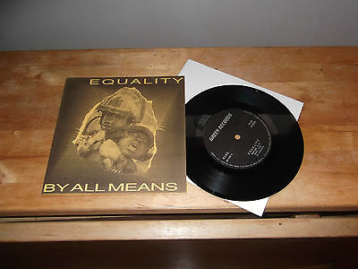 """Equality-By All Means """"SAME"""" 7"""" GREEN ITA 1992 - GATEFOLD"""