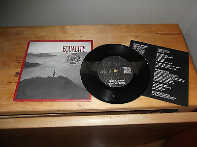 "EQUALITY ""Burns Inside"" 7"" BREAK EVEN POINT ITA 1992 -  INSERT"