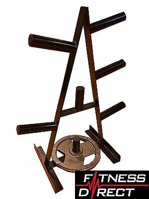 """Fitness Direct Olympic 2"""" Weight Plate Tree Storage Holder Stand"""