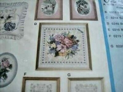Bouquet On Lace Creative Circle Stamped Cross Stitch Kit #240