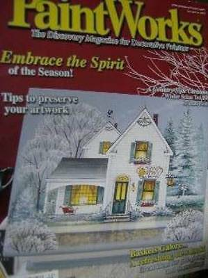 Paint Works Magazine December 2003 Winter Scene Tea Box/Sled Ornaments/Baskets/S