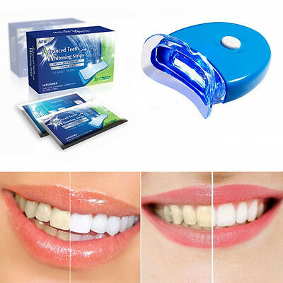 HOT! Teeth Whitening Kit Tooth Whitener Strips Home Dental Laser Bleaching White