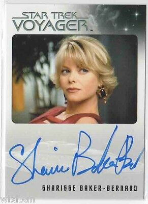 Star Trek Voyager Heroes & Villains Autograph Card Ltd SHARISSE BAKER-BERNARD