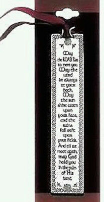 CA Gift Irish Blessing Pewter Bookmark NWT May the Road Rise Up to Meet You.....