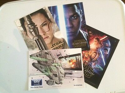 Set of Four Star Wars The Force Awakens Postcards