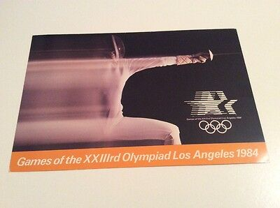 Los Angeles 1984 Olympics Postcard