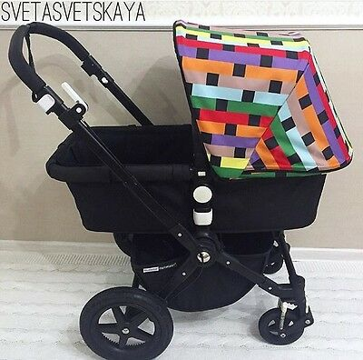 Bugaboo camelion 2 3 Buffalo canopy missoni fabric & NEW! BUGABOO Frog/cam/cam3 Stroller Sun Extendable Canopy Black ...