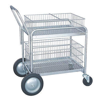 Industrial Grade Mail Cart, 41 In. L x 23 In. W x 38 In. H - Item # 1ECJ8