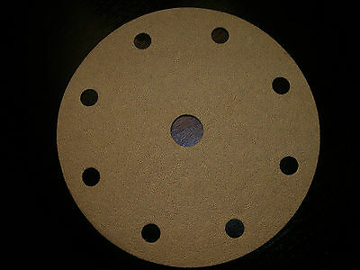 Sand Paper Round Discs Hook & Loop 6 inch 120 grit  Box of 100