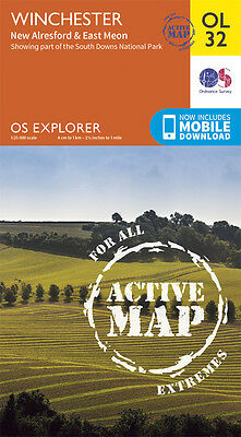WINCHESTER ACTIVE Map - OL 32 - OS - Ordnance Survey  *NEW* INC. MOBILE DOWNLOAD