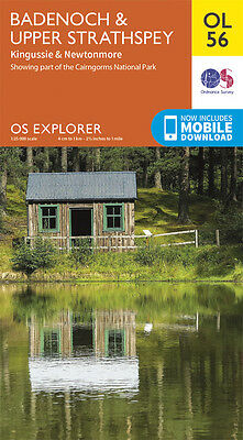 BADENOCH & UPPER STRATH Map - OL 56 - OS - Ordnance Survey INC. MOBILE DOWNLOAD