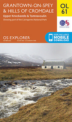 GRANTOWN-ON-SPEY Map - OL 61 - OS - Ordnance Survey - *NEW* INC. MOBILE DOWNLOAD