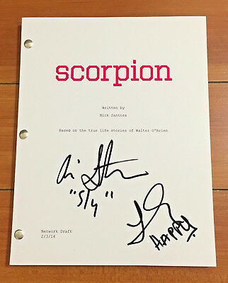 SCORPION SIGNED PILOT SCRIPT BY JADYN WONG & ARI STIDHAM w/PROOF CHARACTER NAMES