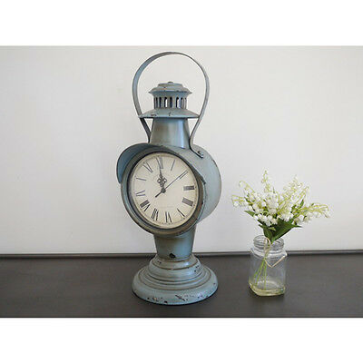 Vintage Style Large Metal Freestanding Clock With Handle