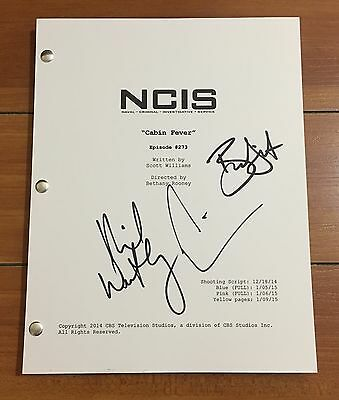 """NCIS SIGNED """"CABIN FEVER"""" 12x15 EP SCRIPT BY +3 CAST MICHAEL WEATHERLY w/PROOF"""