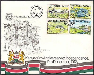 1973 Kenya - Kenya - 10Th Anniversary Of Independence - Fdc - Cover - J65