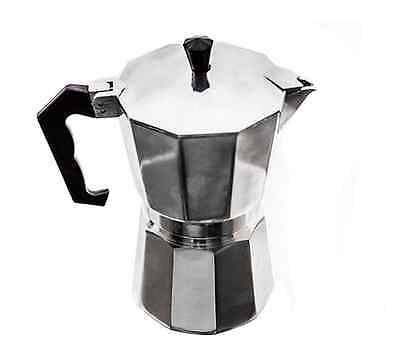 [See Video] Moka Pot Camping Stovetop Coffee Espresso Express Maker 1 - 12 Cups