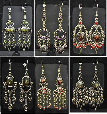 New fashion earring lot 6 pairs mixed style drop dangle earring high quality 002