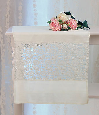 Runner Shabby Chic Blanc Mariclo Patchouli Collection Colore Ghiaccio 50 x 150 c