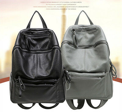 Women Ladies Casual Soft sheepskin Material Travel Backpack with large capacity