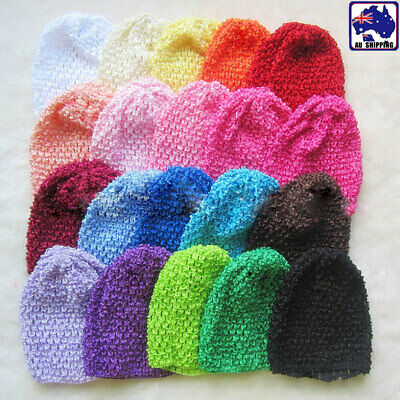 Kids Unisex Knit Wool Cap Crochet Blank Color Winter ski Warm  Beanie Hat JHAT32