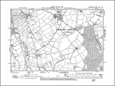 Child's Ercall, Ollerton, old map Shropshire 1902: 23SW repro