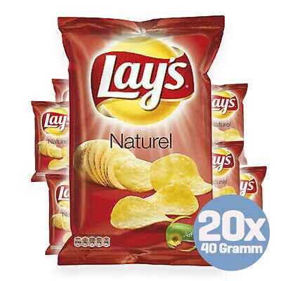 Lay's Chips Naturel 20 x 40g aus Holland