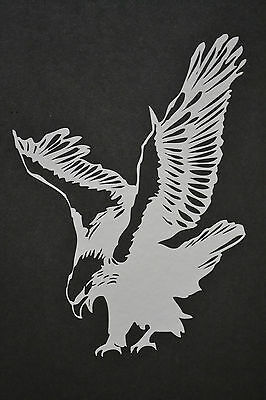 19cm BIRD OF PREY WINGED EAGLE HARRIS HAWK OSPREY HUNTING FALCONRY STICKER DECAL