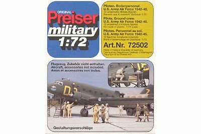 Preiser Military 72502 1/72 US Army Air Force Personnel