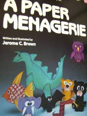 A Paper Menagerie Coloring Craft Book Dinosaur, Fish, Elephant, Owl, Tiger Snake