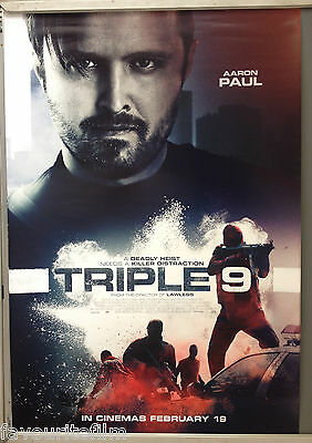 Cinema Poster: TRIPLE 9 2016 (Aaron Paul One Sheet) Kate Winslet Norman Reedus