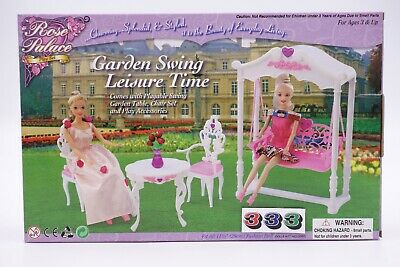 Gloria,Barbie Size Doll  Furniture/(2619) Rose Palace Garden Swing Leisure Time