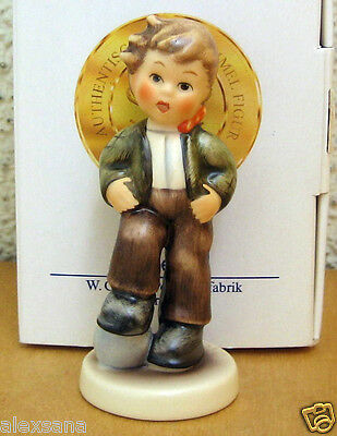 Hum #2051/b Let's Play Tm7 Goebel M.i. Hummel Figurine Germany Boy Ball Nib B451