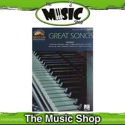 New Great Songs Piano Play Along Music Book & 2x CDs - Volume 104