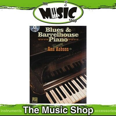 New Blues & Barrelhouse Piano Music Book with DVD Included