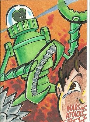 2016 Topps Mars Attacks Occupation - Sketch Card by Jeff Chandler