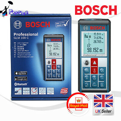 NEW Bosch GLM 100 C 100m Laser Range Finder Measure Bluetooth to Android iOS