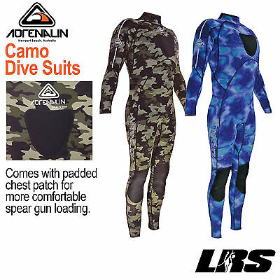 NEW ADRENALIN Spearfishing Camo Steamer 2mm & 3mm Wetsuit Camouflage Wet Suit