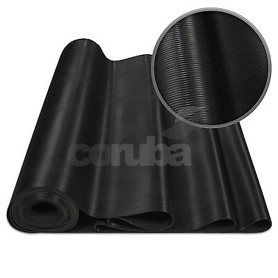Anti Slip Fine Ribbed Rubber Matting - 3.0mm Thick - 1.2m Wide - Length Options
