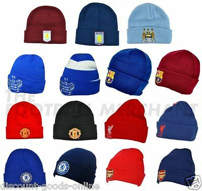 Official Licenced Beanie Hat Great Premier Or League Clubs Gift Idea