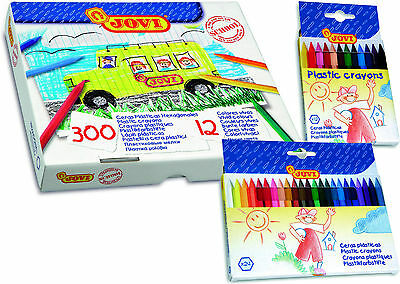Jovi Plastic Crayons Packs of 12, 24 & 300
