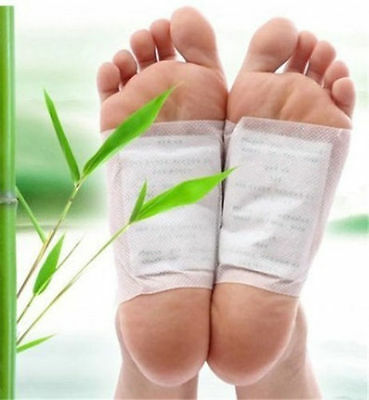 10Pcs New Kinoki In Box Detox Foot Pads Patches With Adhesive Fit Health Cares