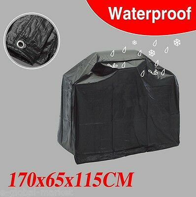 Barbecue Cover Outdoor Waterproof BBQ Garden Patio Gas Grill Protector Black