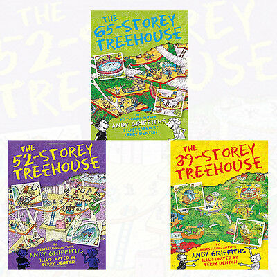 Andy Griffiths Collection The Treehouse Books Series 3 Books Set NEW [Paperback]