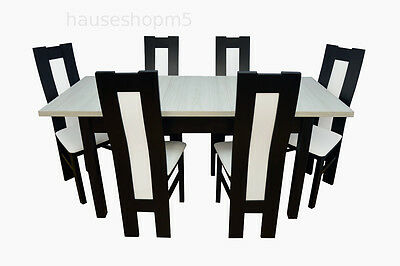 essgruppe set rudolph iii esstisch mit 6 st hlen. Black Bedroom Furniture Sets. Home Design Ideas