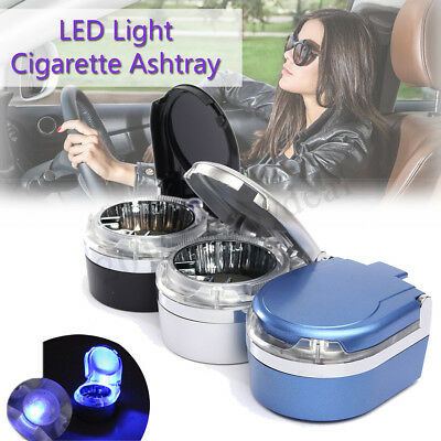 Portable In Car Vehicle Cigarette Smoke LED Light Ashtray Ash Holder Bucket Cup