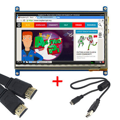 "7"" inch LCD HD touch screen Display +HDMI +USB cable for Raspberry Pi 2"