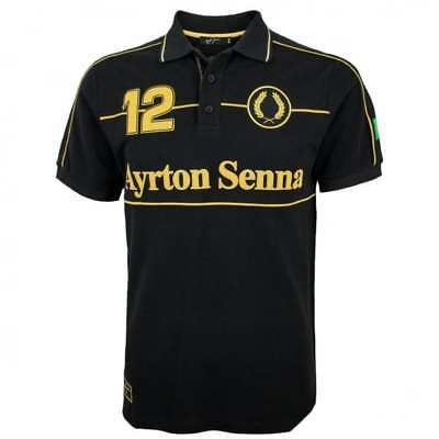 Ayrton Senna Collection JPS Team Lotus Polo Shirt F1 Black