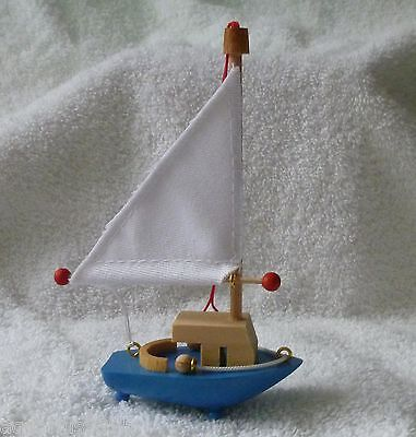 Steinbach Wooden Sailboat Ornament Handmade in Germany