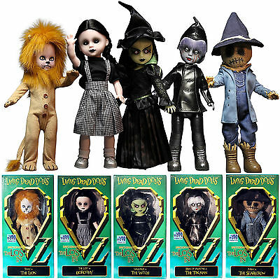 Living Dead Dolls The Lost In OZ Scarecrow Lion Dorothy Witch Tin Man 5 Dolls 25